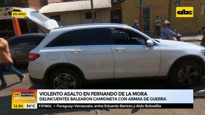 Violento asalto con armas de guerra en Fernando de la Mora