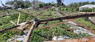 Evalúan daños ocasionados por temporal en Caaguazú