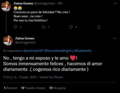 """Senadora Gómez """"entró en guerra"""" con internautas que ponen en duda su relación sentimental"""