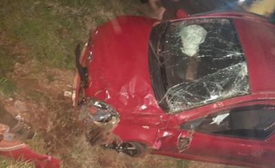 Vuelco de vehículo deja un lesionado en Minga Guazú