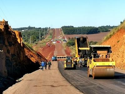 Nuevo corredor de exportación superó 100 km de asfaltado concluido