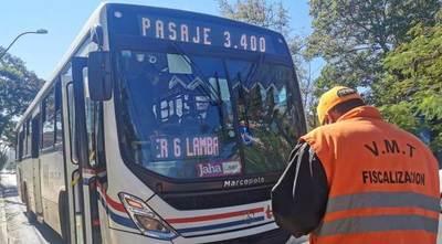 Buses permisionarios del VMT mantienen precio del pasaje en G. 2.300 y G. 3.400