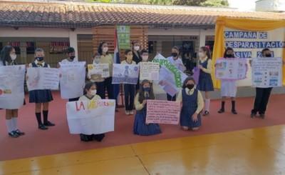 Realizan campaña de desparasitación en Escuela Espíritu Santo