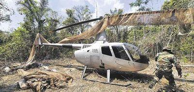 Otro narco helicóptero fue capturado en Bolivia