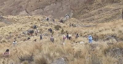 La Nación / Al menos 23 fallecidos en accidente de autobús en Bolivia