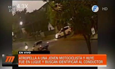Buscan a conductor que atropelló a joven motociclista