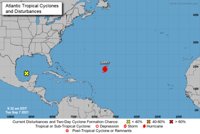 Huracán Larry amenaza con corrientes de resaca a las costas de EEUU y Canadá