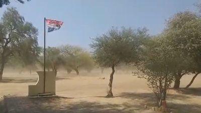 Reportan ráfagas intensas de vientos en distintos puntos del país