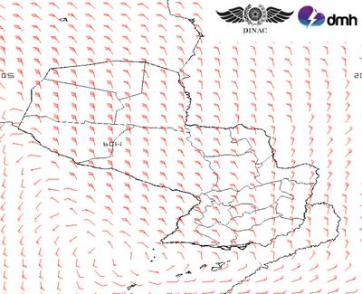 Meteorología anuncia viento norte muy fuerte en casi todo el país