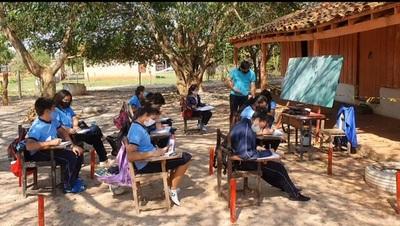 Hace tres años dan clases bajo árboles en Concepción