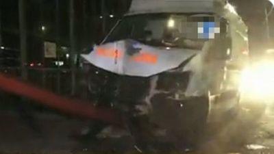 Ambulancia chocó contra columna y murió paciente que era llevado de urgencia