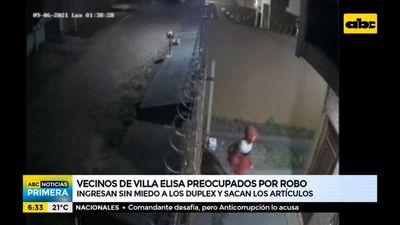 Vecinos de Villa Elisa, preocupados por constantes robos