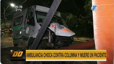 Ambulancia sufre accidente y paciente trasladado muere