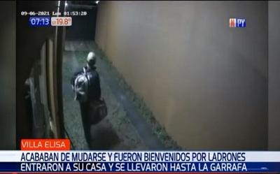 """Ladrón da la """"bienvenida"""" a familia que acababa de mudarse a Villa Elisa"""