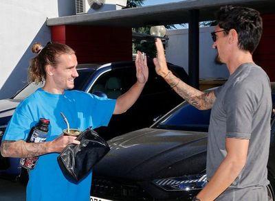 Griezmann: regreso, saludos y entrenamiento en el Atlético