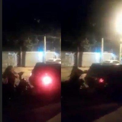Crónica / [VIDEO] Doña furiosa atacó a su ex y terminó rompiendo todo a piedrazos