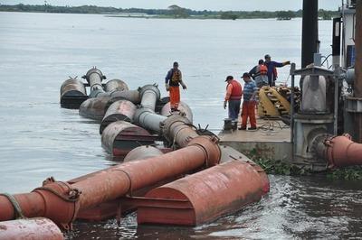 Denuncian posible negociado en trabajos de dragado de río