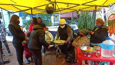 Red de ollas populares continúa con movilizaciones para tener recursos