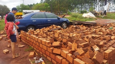 Temporal genera destrozos en varios puntos de Alto Paraná