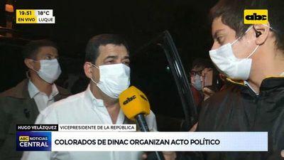 Colorados de DINAC organizan acto político