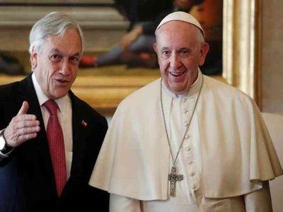 El papa Francisco recibió al presidente de Chile, Sebastián Piñera, en el Vaticano