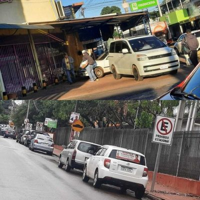 Mal estacionamiento crea más caos al tránsito automotor