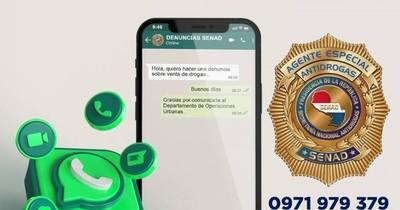 La Nación / WhatsApp de Senad para denunciar a narcos recibió 800 mensajes en un día