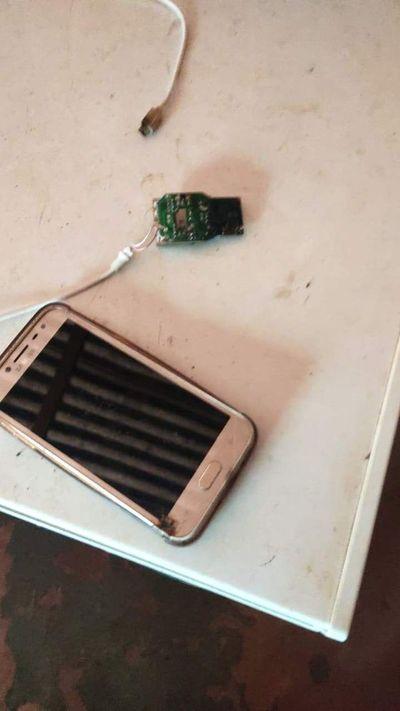 Agricultor quedó electrocutado al intentar cargar su celular