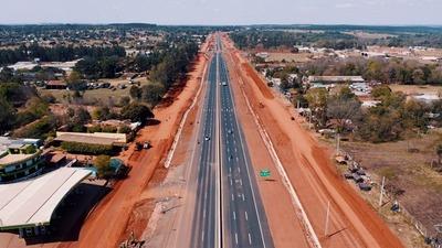 Obras de la ruta PY02 transforman la ciudad de Caaguazú
