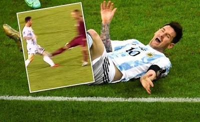 Messi relata qué sintió al sufrir tremenda patada ante Venezuela