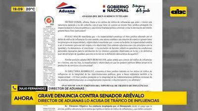 Grave denuncia contra senador Arévalo