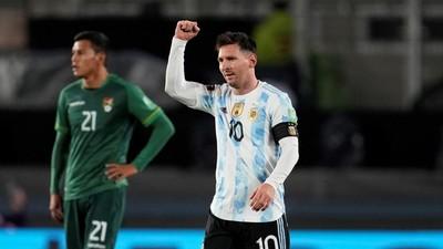 Messi brilla en goleada argentina ante Bolivia