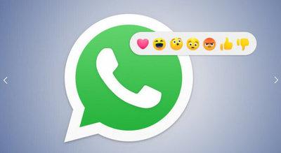 WhatsApp podría incluir en un futuro cercano las «reacciones» en los chats