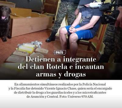 Detienen a integrante del clan Rotela e incautan armas y drogas – Prensa 5