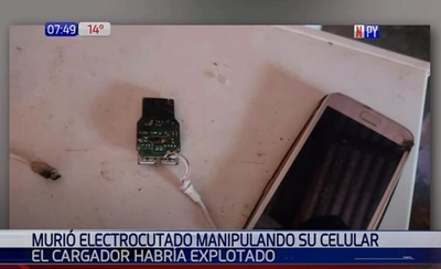 Hombre muere electrocutado tras explosión de cargador de teléfono
