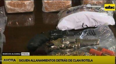 Policía desbarata estructura de clan Rotela y apunta que las drogas originan ola de inseguridad