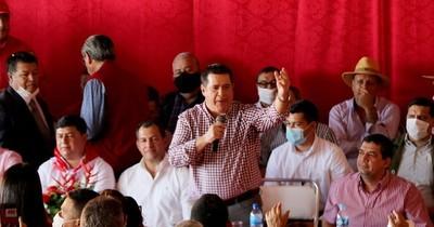 """La Nación / Cartes en San Pedro: """"Las elecciones no se ganan con movimientos, se ganan con la ANR"""""""