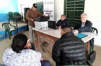 Ministerio de Justicia asistió a comunidades indígenas en el Departamento de Boquerón