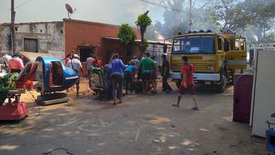 Ocho familias son afectadas por incendio en Asunción