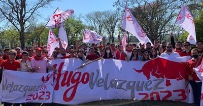 La Nación / Promocionan candidatura de Hugo Velázquez durante festejo de la ANR