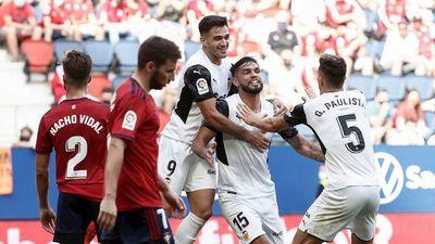 Omar Alderete cierra la goleada del Valencia