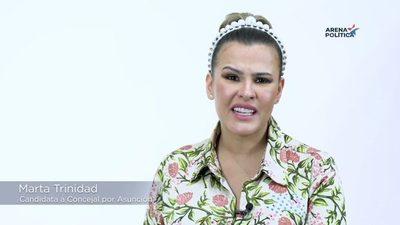 Marta Trinidad en Arena Politica en vivo por facebook Live de www.onlivepy.com.py