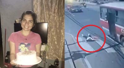 Falleció la joven que cayó de un bus tras un asalto