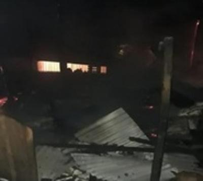 CDE: Un hombre prendió fuego a una casa