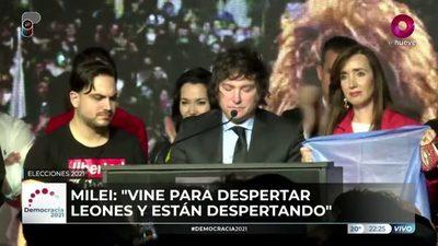 Javier Milei es tercera fuerza en la ciudad de Buenos Aires (video)