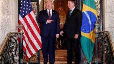 «Amo al presidente de Brasil, trabaja duro», declaró Trump