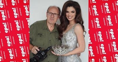 La producción de Nadia Ferreira con el fotógrafo oficial del Miss Universo