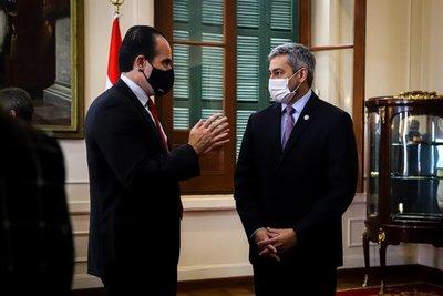 Mario Abdo recibe en Palacio de Gobierno al Presidente del BID