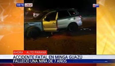 Niña de siete años resulta víctima fatal de accidente de tránsito