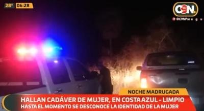 Hallan cuerpo de mujer con rastros de violencia en Limpio
